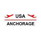 Anchorage Alaska USA Airport Plane Light-Color by TinyStarAmerica
