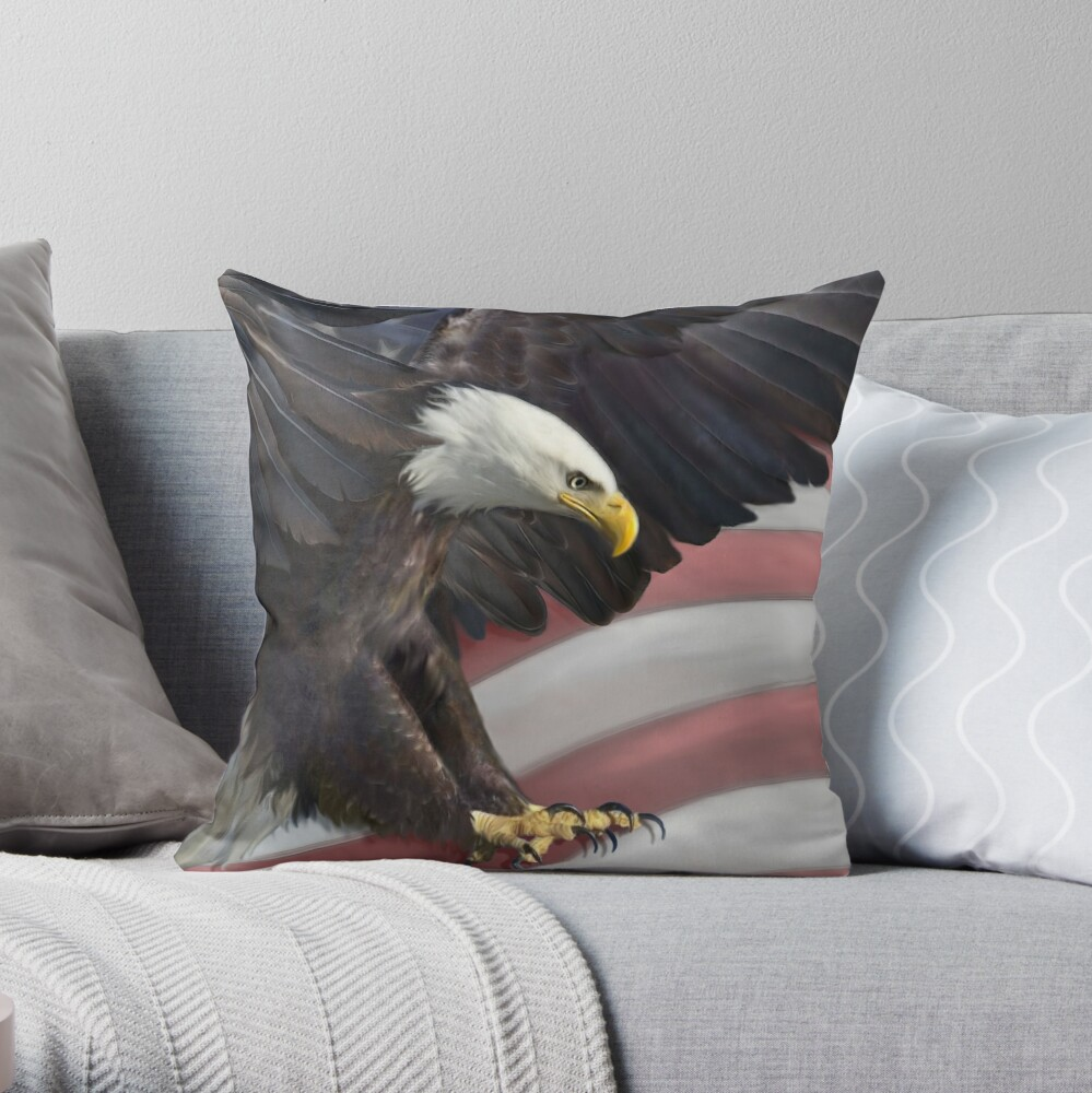 Warriors Flight Throw Pillow