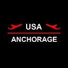 Anchorage Alaska USA Airport Plane Dark Color by TinyStarAmerica