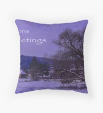 Seasons Greetings Throw Pillow
