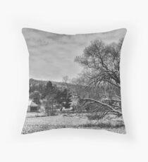 Winter BW Throw Pillow