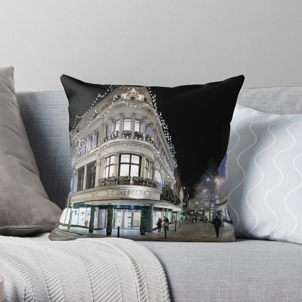 Jarrolds Dressed for Christmas Throw Pillow