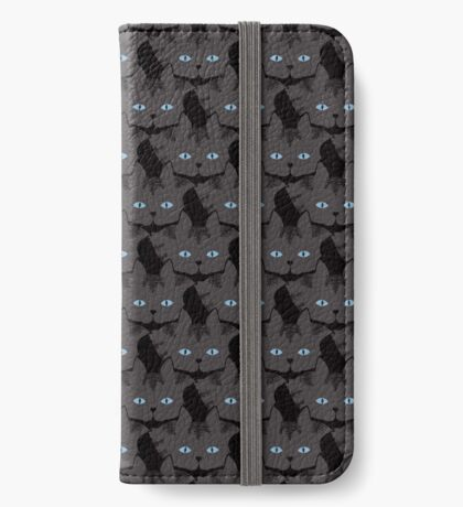 Grey #04  Tabby Cat Cattern [Cat Pattern] iPhone Wallet