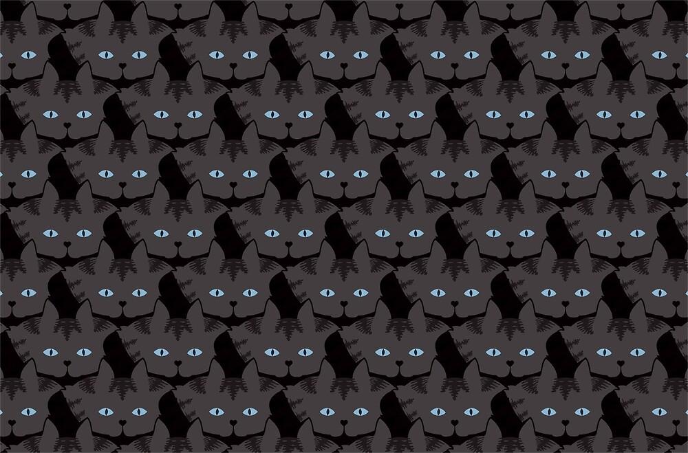 Grey #04  Tabby Cat Cattern [Cat Pattern] by Brent Pruitt