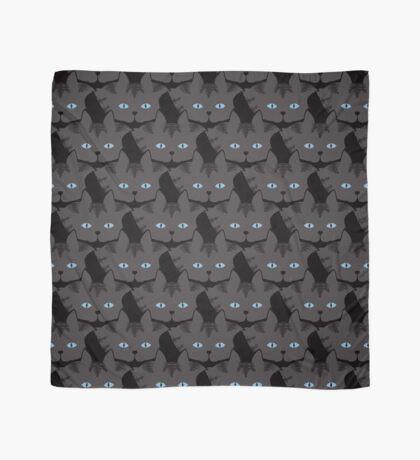 Grey #04  Tabby Cat Cattern [Cat Pattern] Scarf