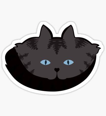 Grey #04  Tabby Cat Cattern [Cat Pattern] Sticker