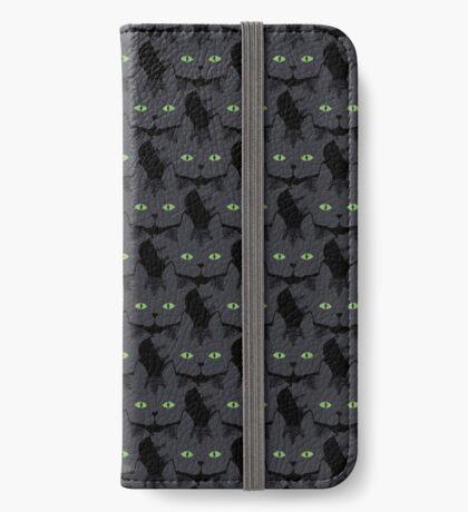 Grey #05  Tabby Cat Cattern [Cat Pattern] iPhone Wallet