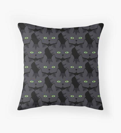 Grey #05  Tabby Cat Cattern [Cat Pattern] Throw Pillow
