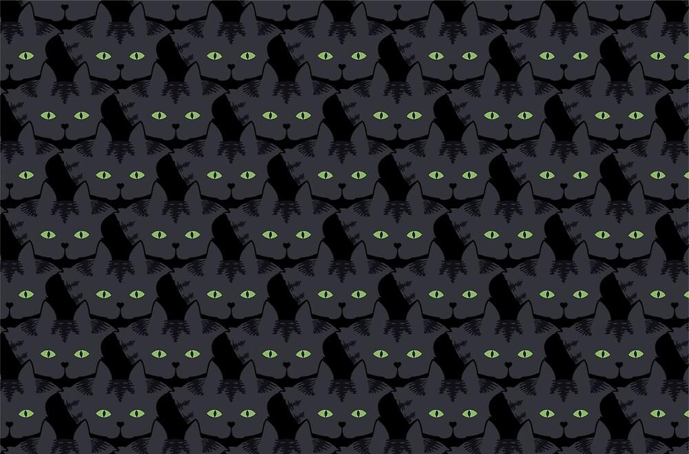 Grey #05  Tabby Cat Cattern [Cat Pattern] by Brent Pruitt
