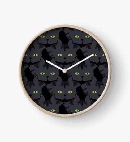 Grey #05  Tabby Cat Cattern [Cat Pattern] Clock