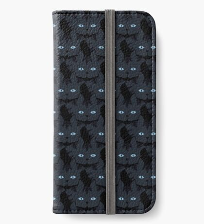 Grey #06  Tabby Cat Cattern [Cat Pattern] iPhone Wallet