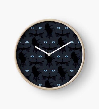 Grey #06  Tabby Cat Cattern [Cat Pattern] Clock