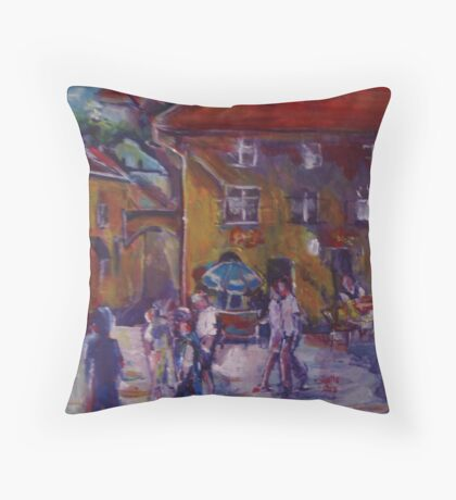 Market place Throw Pillow