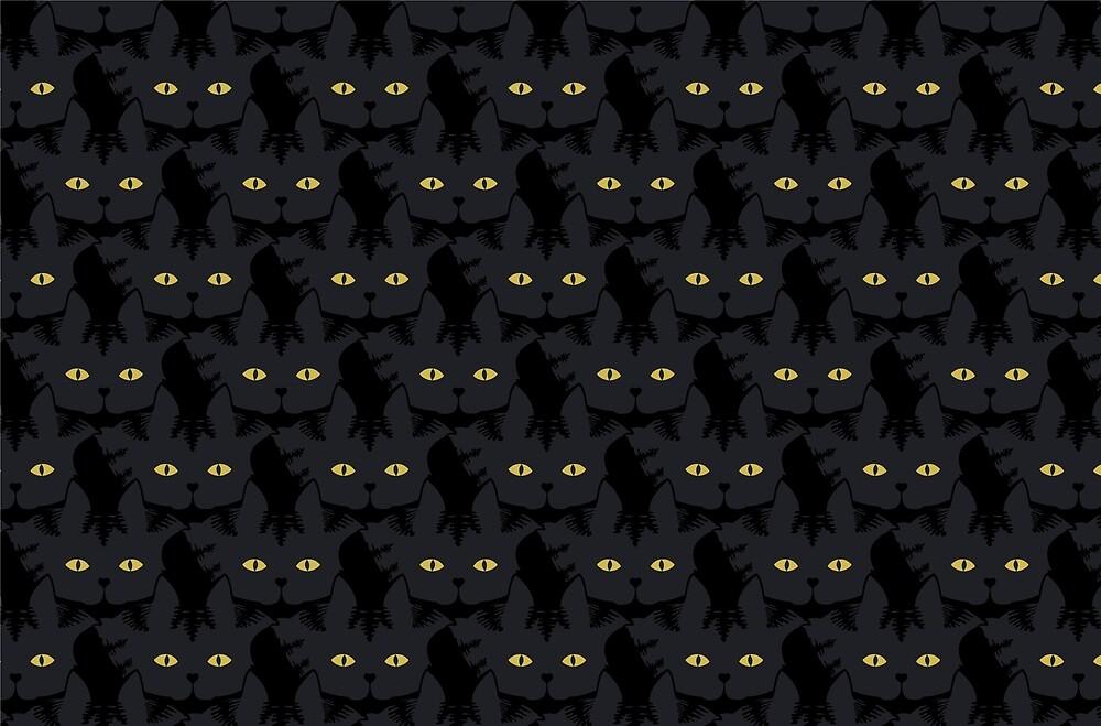 Black Tabby Cat Cattern [Cat Pattern] by Brent Pruitt