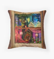 The Curious Library Calendar - May Throw Pillow