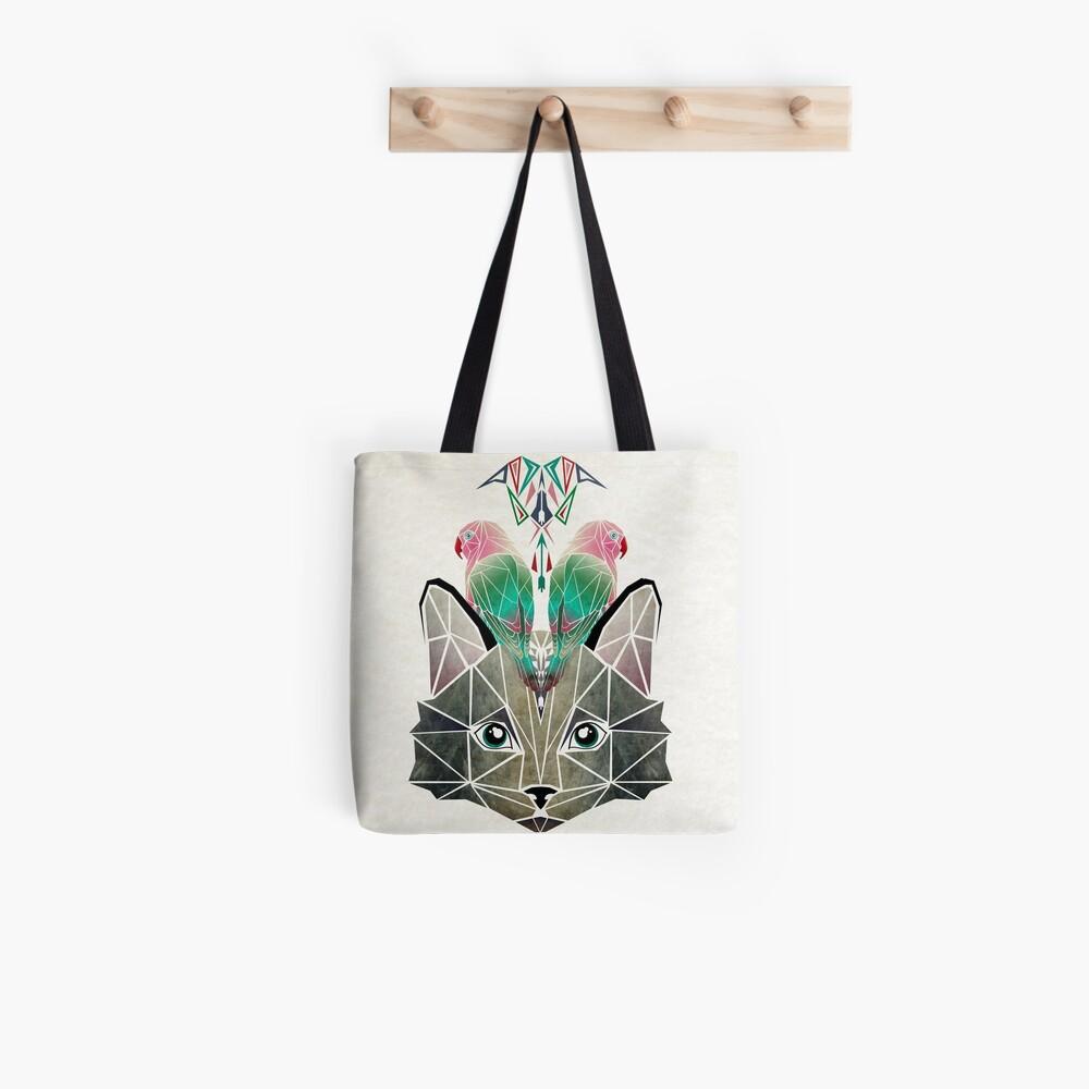 cats loves birds Tote Bag