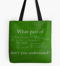 What Part Don't You Understand Math Humor Nerd Geek Poster Tasche