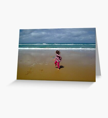 90 Mile ~ Running from Surf Greeting Card