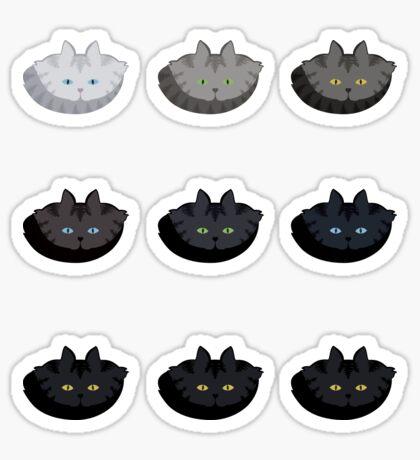 Grey Tabby Cat Vertical Stripe Cattern [Cat Pattern] Sticker