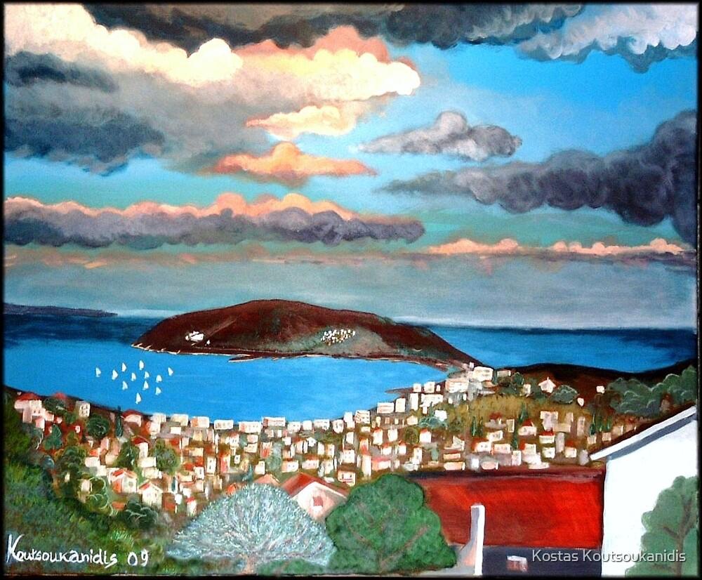 Porto Rafti from my Balcony by Kostas Koutsoukanidis