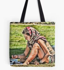 Scarf Makes the Artist Tote Bag