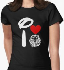 I Heart The Lion King (Inverted) Womens Fitted T-Shirt