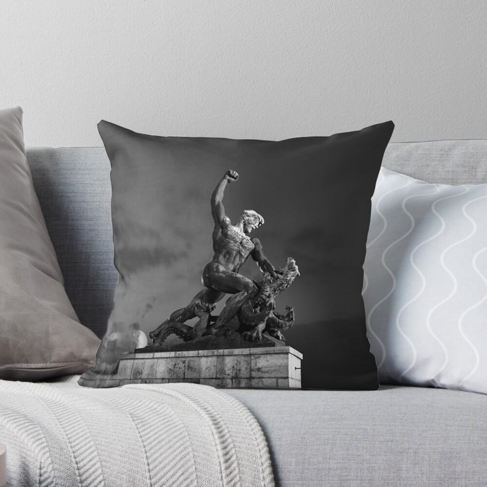 Saint George the Dragon Slayer Throw Pillow