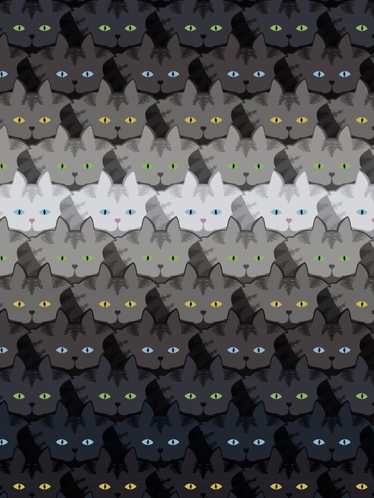 Grey Tabby Cat Horizontal Stripe Cattern [Cat Pattern] by brentpruitt
