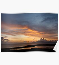 Clare Island sunset Poster