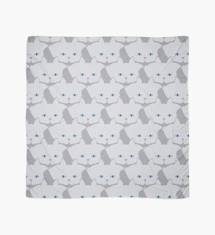 Light Grey #01 Cat Cattern [Cat Pattern] Scarf