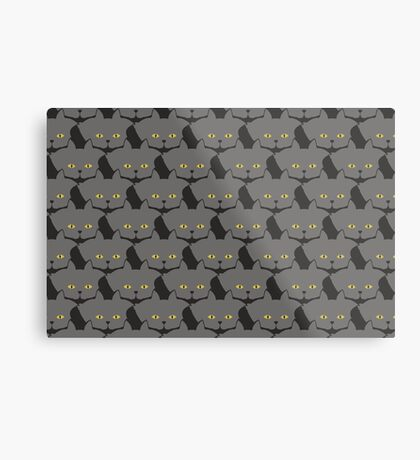 Grey #03 Cat Cattern [Cat Pattern] Metal Print
