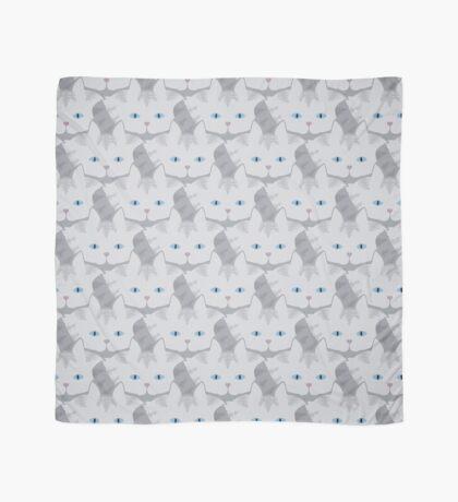 Light Grey #01  Tabby Cat Cattern [Cat Pattern] Scarf