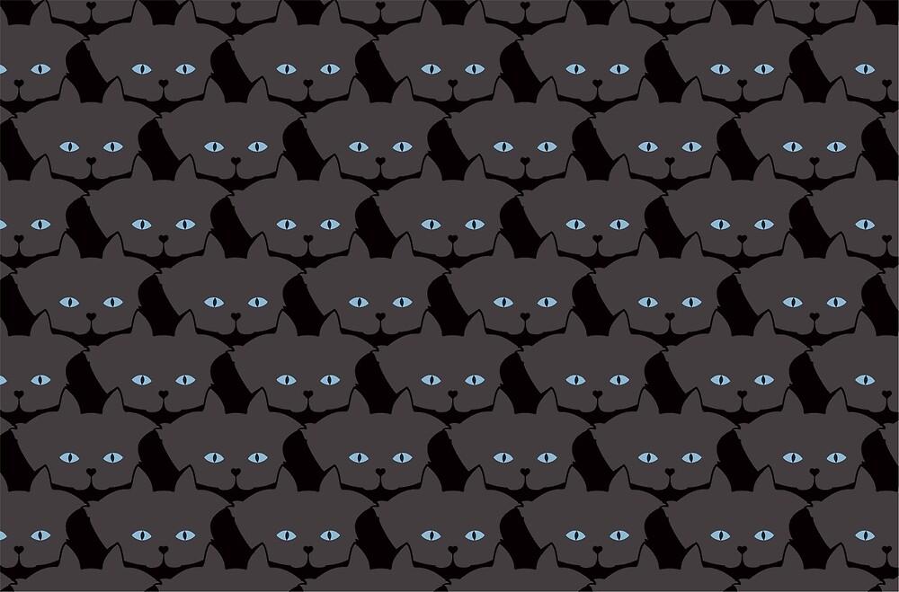 Grey #04 Cat Cattern [Cat Pattern] by Brent Pruitt