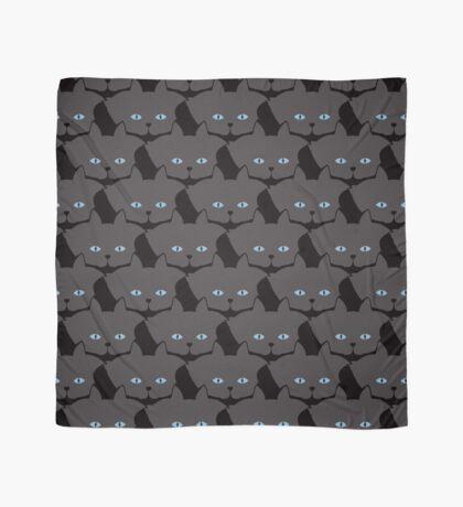 Grey #04 Cat Cattern [Cat Pattern] Scarf