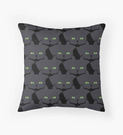 Grey #05 Cat Cattern [Cat Pattern] Throw Pillow