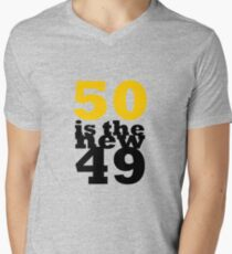 50 Is The New 49 Mens V Neck T Shirt