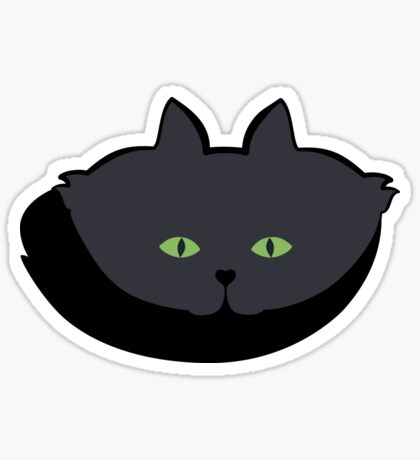 Grey #05 Cat Cattern [Cat Pattern] Sticker