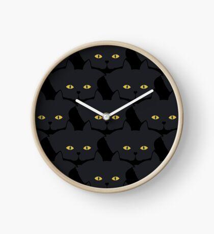 Black Cat Cattern [Cat Pattern] Clock