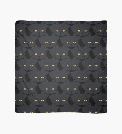 Black Cat Cattern [Cat Pattern] Scarf