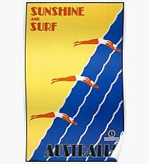 Australia Vintage Poster Restored Poster
