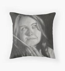 Monochromatic Self Portrait Throw Pillow
