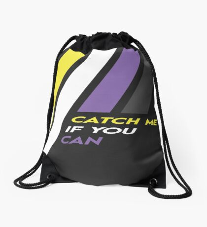 Pride Stripe: Catch Me If You Can Drawstring Bag