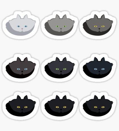 Grey Cat Vertical Stripe Cattern [Cat Pattern] Sticker