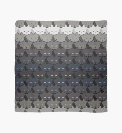 Grey Cat Horizontal Stripe Cattern [Cat Pattern] Scarf