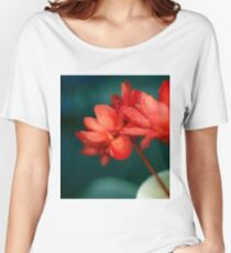Red Flowers Macro Women's Relaxed Fit T-Shirt