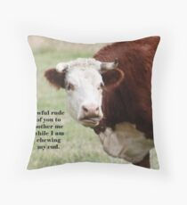 Chewing the Cud Throw Pillow