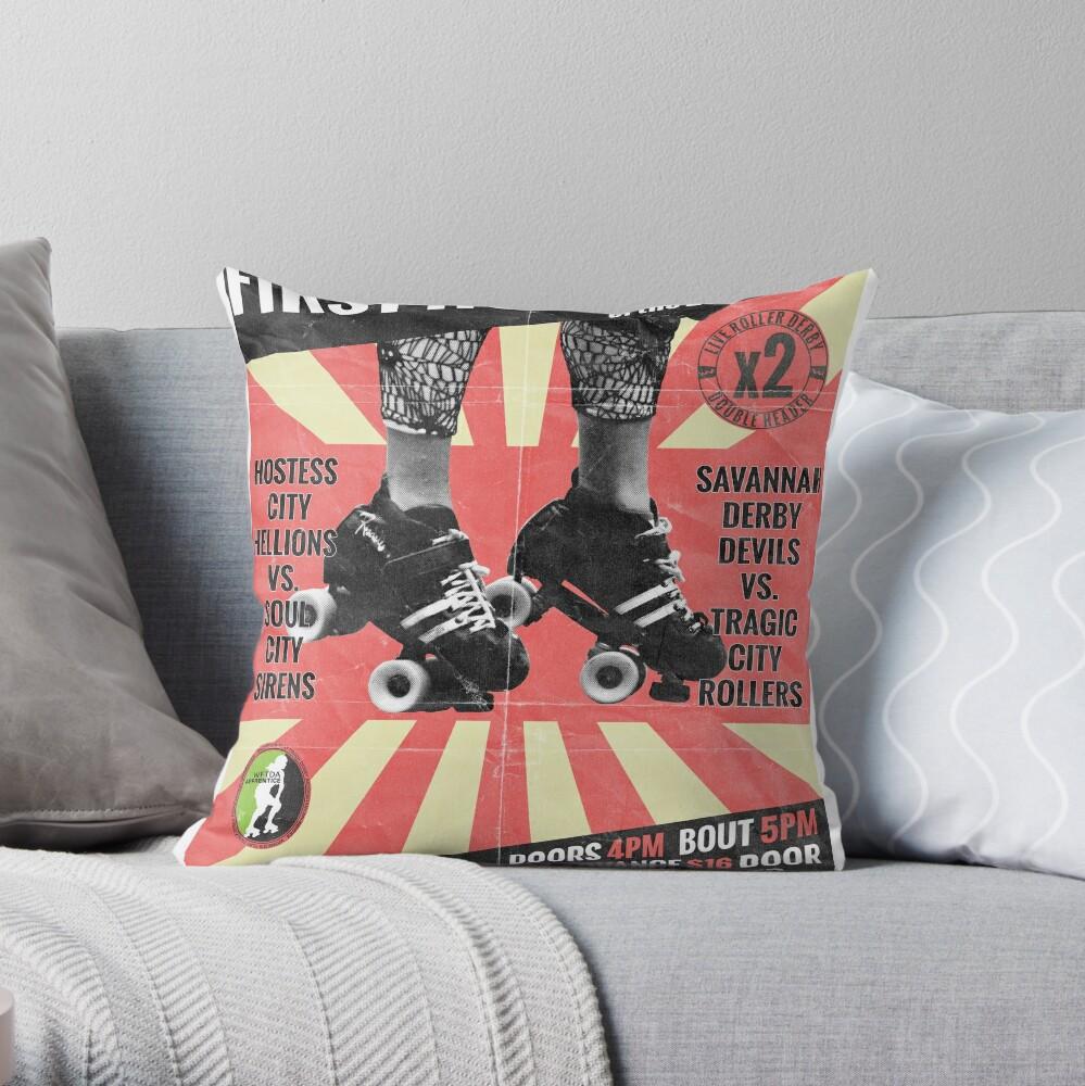 Savannah Derby Devils First Home Bout (2013) Poster Dekokissen