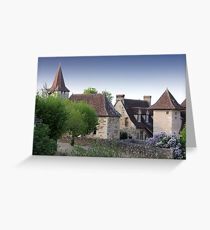 Rooflines of Carennac, France Greeting Card