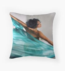 Spreading Her Wings Throw Pillow