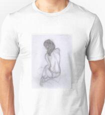 women in knickers line drawing Unisex T-Shirt
